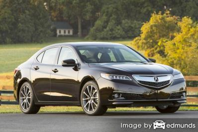 Insurance rates Acura TLX in Portland
