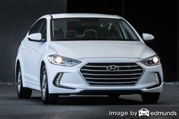 Insurance rates Hyundai Elantra in Portland