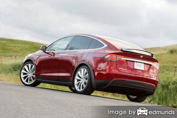 Insurance quote for Tesla Model X in Portland
