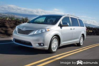 Insurance rates Toyota Sienna in Portland